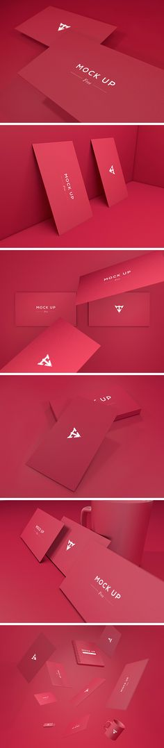 This business card mock-up collection includes 6 PSD files that will allow you to easily create a colorful presentation...