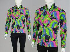 Vintage 60s 70s JOHN STEPHEN Pscychedelic Shirt by ZeusVintage