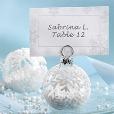 Winter Wedding Favors   Brides.com