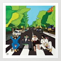 Siesta in Abbey Road Art Print by Daniela Di Gennaro - $18.00