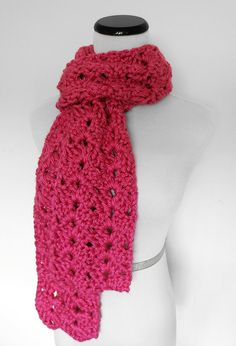 Chunky Lace Scarf from Purple Kiss Company. ♥ http://PurpleKissCompany.etsy.com