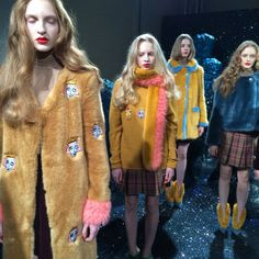 The #Shrimps #AW15 #LFW collection. Faux Fur Fabulous!