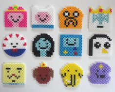 Reserved for Kat -   12 piece Adventure Time drink coasters. $30.00, via Etsy.
