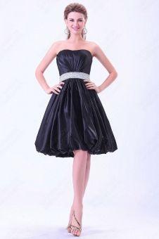 A-line Sweetheart Taffeta Knee-length DarkNavy Ruffles Bridesmaid Dress  from www.ladyplussizedresses.com