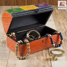 Wooden Decorative Box Jewelry