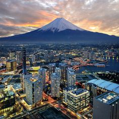 Mount Fuji Overlooking City Of Yokohama Photography By: Nattachai Sesaud