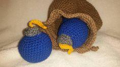 LoZ Bomb bag crochet by HappyHookingBoutique on Etsy
