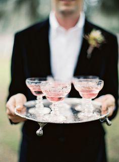 by jose villa // use vintage glasses for pink champagne Signature Cocktail, Wedding Blog, Wedding Reception, Dream Wedding, Wedding Ideas, Wedding Inspiration, French Wedding, Wedding Catering, Wedding Album