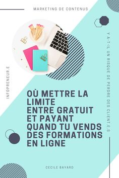 Tu veux créer une formation en ligne mais tu ne sais pas où mettre la limite entre gratuit et payant dans ton marketing. Cet article est pour toi ! #blogbyyourself #marketing Inbound Marketing, Startup, Client, Online Courses, Blogging, Chart, Business, Get Rich Quick, Content Marketing