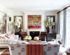 Kit Kemp--her london town home--Home, is a London townhouse, located on a private square near Hyde Park and is ' a complete indulgence' according to Kit.