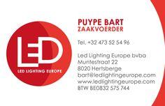Naamkaartje Led Lighting Europe bvba North Face Logo, The North Face, Led, Logos, Logo