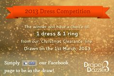 The Competition will be drawn in 2 hours.  CHANCES TO WIN!!!    Simply Like our page and be in the draw!!    Visit our Facebook!