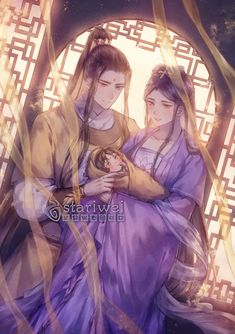 Jin Jizuan & Jiang Yanli junto a su pequeño, A Ling 💛 Anime Love Couple, Cute Anime Couples, Writing Fantasy, Fantasy Art, Familia Anime, Black Butler Anime, Anime Version, Anime Chibi, Chinese Art