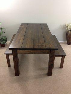 Farmhouse Table / Farm Table / Harvest Table by EzekielandStearns