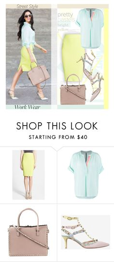 """""""Street Style/Work Wear..."""" by unamiradaatuarmario ❤ liked on Polyvore featuring Astr, Seidensticker, Valentino, StreetStyle, WorkWear, pastels and SpringStyle"""