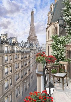 view of Paris from the balcony by Annyutka on DeviantArt