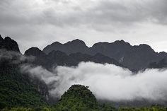 The Misty Mountains ~ The Karst hill landscape surrounding the town of Vang Vieng, Laos