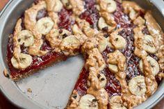 Peanut Butter, Jam, & Banana Breakfast Pizza | Oh She Glows