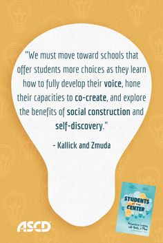 This book is a valuable resource for learning how to facilitate curriculum that is student-directed, dynamic, sometimes messy, and always meaningful. Education Quotes For Teachers, Quotes For Students, Education College, Educational Leadership, Educational Technology, Brain Based Learning, High School History, Math Fractions, Leadership Quotes