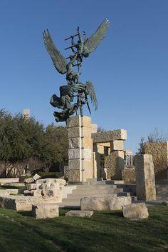 """The """"Jacob's Dream"""" sculpture at Abilene Christian University in Abilene, Texas"""