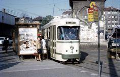 Tram No.527, Saint-Étienne, France, fot. Lindsay Bridge (1970s)
