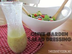 Copy Cat Olive Garden Salad Dressing via The Country Cook