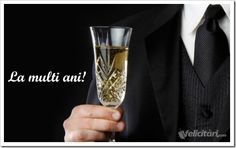 felicitari.com An Nou Fericit, Flute, Champagne, Tableware, Diets, Birthday, Party, Places, Flower Colors