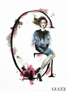 PAPIROLAS COLORIDAS: Alfabeto fashion.