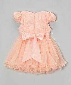 Loving this Pink & White Pearl Flower A-Line Dress - Infant, Toddler & Girls on #zulily! #zulilyfinds