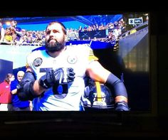 RESPECT, WHY WAS HE THE ONLY STEELER TO TO BE OUT OF THE TUNNEL FOR THE NATIONAL ANTHYM,