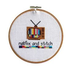 Netflix And Stitch #cross-stitch #cross-stitch-pattern #free