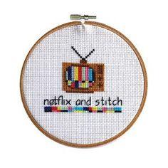 Netflix And Stitch #cross-stitch #cross-stitch-pattern #free