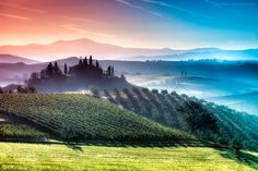 Prismatic Layers of Air in Tuscany - Bubalo's Tuscany stand out because of the way he captures layers, colors and light.