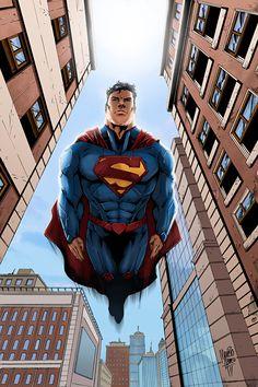 Superman flying by *logicfun on deviantART