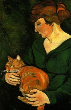 Top 10 Famous Paintings By Suzanne Valadon Suzanne. The famous female French painter made groundbreaking unpredictable and once in awhile dubious figure paintings regularly of female nudes. Art And Illustration, Maurice Utrillo, Photo Chat, Renoir, French Art, Figure Painting, Oeuvre D'art, Crazy Cats, Cat Art