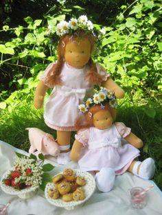 Puppenkinder Lille Mia und Lille Mi