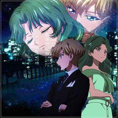 <3 harumichi | Haruka Tenoh and Michiru Kaioh (Sailor Uranus ad Sailor Neptune) Sailor Moon Crystal