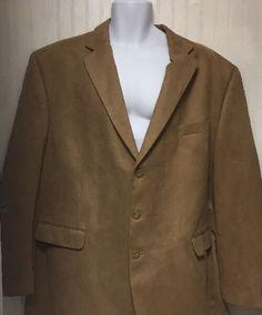 52L Lauren Ralph Lauren Men 039 s Khaki Tan Three Button Sports Coat Blazer Jacket | eBay