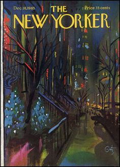 New Yorker Christmas Cover by Arthur Getz