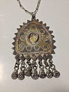 Sterling Silver Necklace With Ethnic Pendant