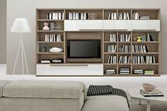bibliothèque de salon moderne en bois