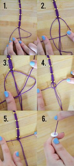 Hemp Bracelet Tutorial via Whimsy Darling