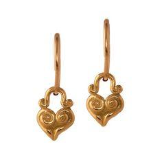 Tiny Maori Endless Hoop Earring in 18K Gold by Brevard . . . . #leebrevard