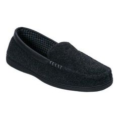 Men's Dearfoams Mixed Material Moccasin with Meva Insole