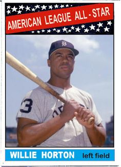 1966 Topps Willie Horton All Star, Detroit Tigers, Baseball Cards That Never Were.