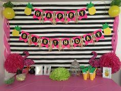 DIY Pineapple theme Birthday party 🍍