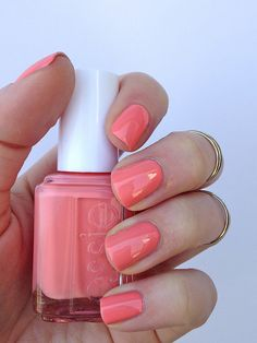 Just bought this and I love it. ESSIE- Peach Side Babe