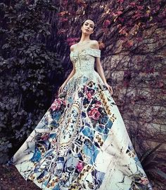 Reem Kachmar Couture takes glamourous to a new level with this Modernisme-inspired gown! #weddinggown #weddingdress #gown #couture #praisewedding