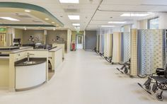 Oregon Specialist Surgery Center - nurse station / recovery, ASC in Salem, OR Healthcare interior design and construction by Emmett Phair Design-Build
