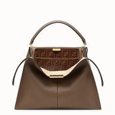 f1e955da3288 FENDI PEEKABOO X-LITE - Brown leather bag - view 1 detail New Handbags